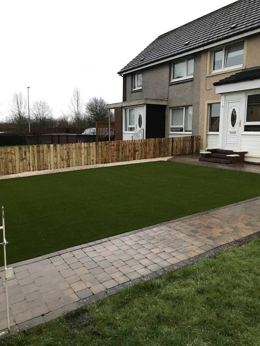 CY TURF GLASGOW - Bute lawn installed in Glasgow