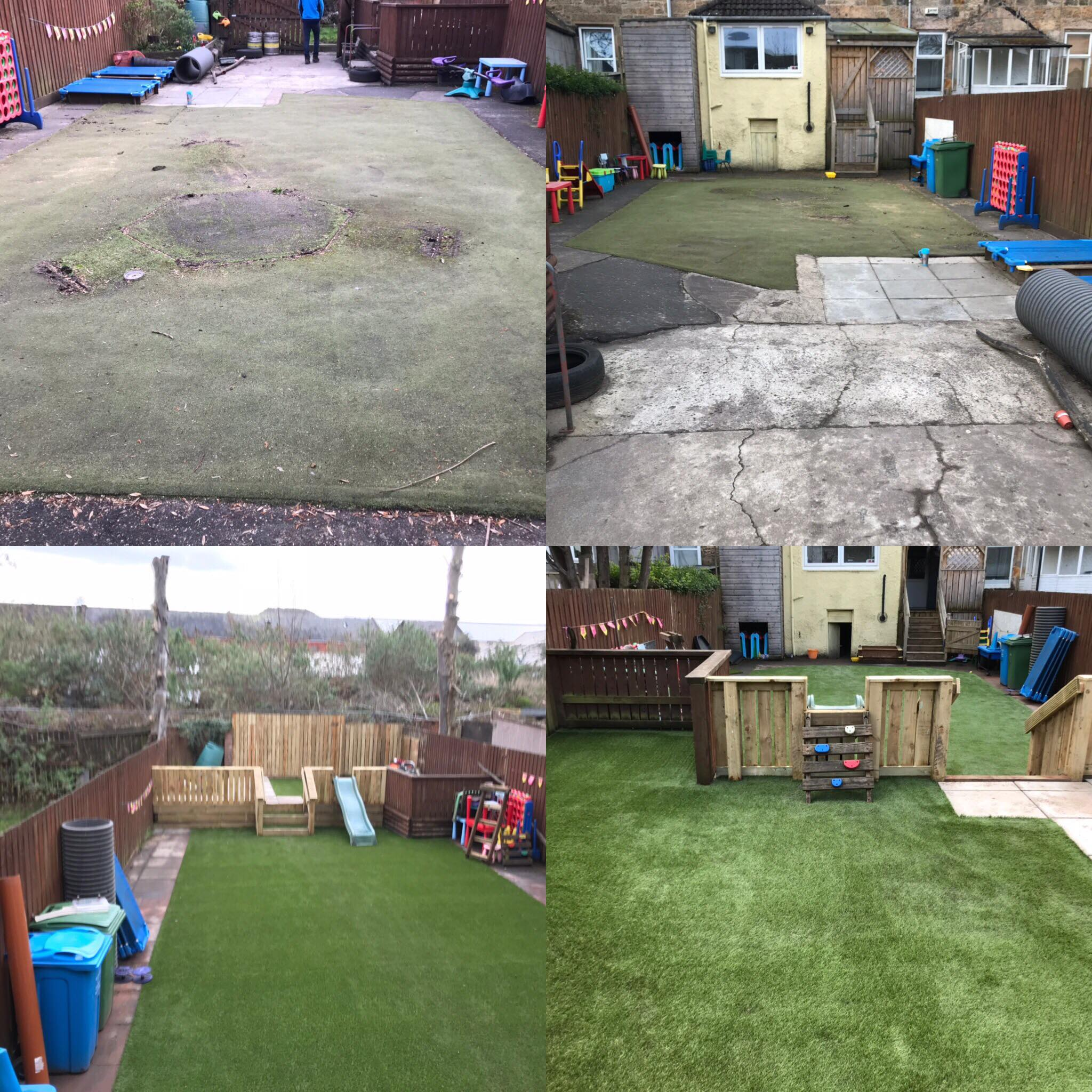 CY TURF GLASGOW - Cumbrae lawn installed in Govan