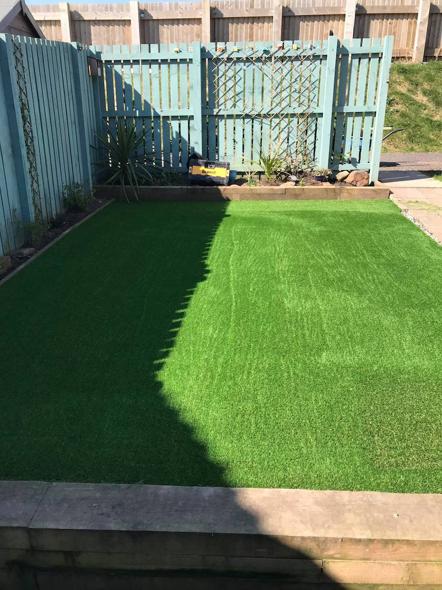 CY TURF GLASGOW - Arran lawn installed in Stewarton